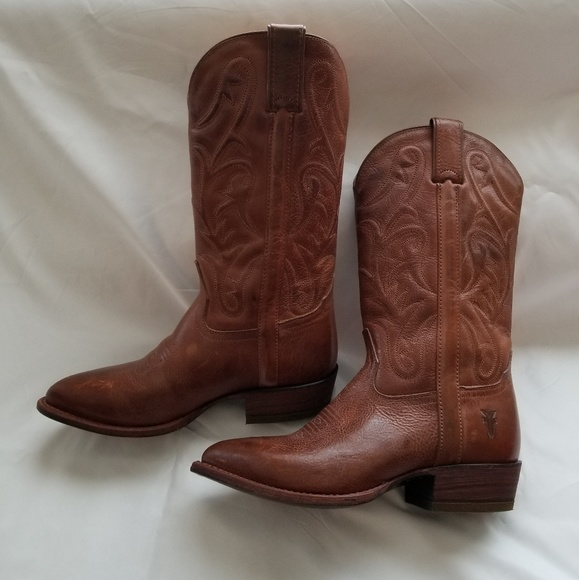 82929f57ec6 FRYE Calf High Embroidered Cowboy Boots